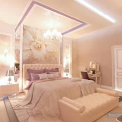 Спальная комната 16 кв. м в классическом стиле: Спальни в . Автор – Студия интерьера Дениса Серова