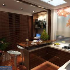 Cocinas de estilo  por Студия интерьера Дениса Серова