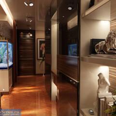 Дизайн-проект двухкомнатной квартиры 60 кв. м в современном стиле: Коридор и прихожая в . Автор – Студия интерьера Дениса Серова