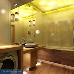 Дизайн-проект двухкомнатной квартиры 60 кв. м в современном стиле: Ванные комнаты в . Автор – Студия интерьера Дениса Серова,