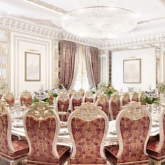   Dining room interior of Katrina Antonovich: classic Dining room by Luxury Antonovich Design