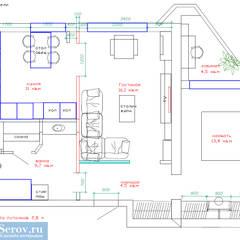 Дизайн-проект двухкомнатной квартиры 60 кв. м в современном стиле: Стены в . Автор – Студия интерьера Дениса Серова