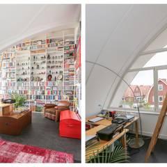 2 onder 1 kap woning Dalem met een rieten kap:  Studeerkamer/kantoor door Brand BBA I BBA Architecten