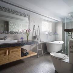 內斂優雅文人宅邸:  浴室 by 磨設計