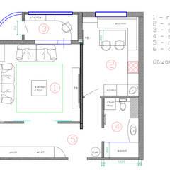Дизайн-проект двухкомнатной квартиры 70 кв. м в прованском стиле: Стены в . Автор – Студия интерьера Дениса Серова