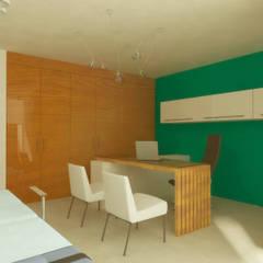 CONSULTORIO: Clínicas / Consultorios Médicos de estilo  por DLR ARQUITECTURA/ DLR DISEÑO EN MADERA