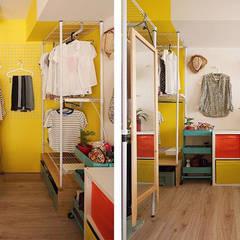 غرفة الملابس تنفيذ 一葉藍朵設計家飾所 A Lentil Design