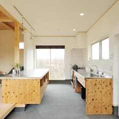 Kitchen by 株式会社 建築工房零, Eclectic Wood Wood effect