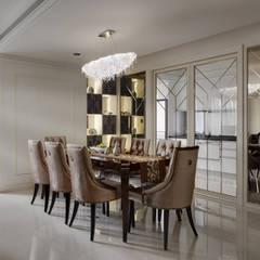 時尚精品宅:  餐廳 by 大荷室內裝修設計工程有限公司