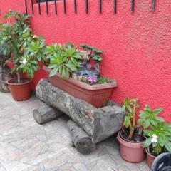Casa Interior familia Espinoza - Chile: Jardines de estilo  por Feng Shui y Arquitectura, Asiático Madera Acabado en madera