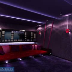 Дизайн-проект загородного дома 200 кв. м в Подмосковье, современный стиль: Медиа комнаты в . Автор – Студия интерьера Дениса Серова