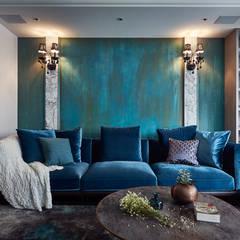ห้องนั่งเล่น by DYD INTERIOR大漾帝國際室內裝修有限公司