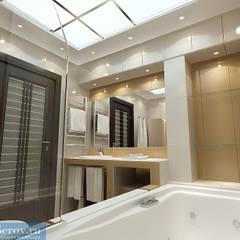 Ванная комнатая в таунхаусе, современный стиль: Ванные комнаты в . Автор – Студия интерьера Дениса Серова