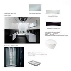 Дизайн-проект однокомнатной квартиры 45 кв. м в стиле минимализм: Стены в . Автор – Студия интерьера Дениса Серова