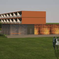 APARTHOTEL VIANA . ANGOLA: Casas  por PLURALLINES - Ideias, Projectos e Gestão Lda
