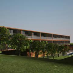 APARTHOTEL VIANA . ANGOLA: Escritórios e Espaços de trabalho  por PLURALLINES - Ideias, Projectos e Gestão Lda