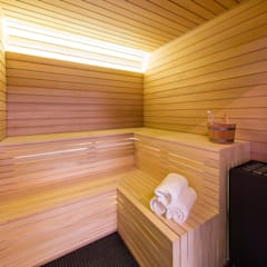 Sauna:  Spa by KSR Architects