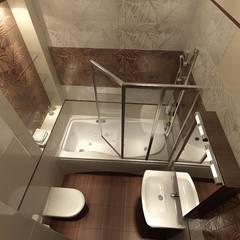 Дизайн-проект двухкомнатной квартиры 80 кв. м в современном стиле: Ванные комнаты в . Автор – Студия интерьера Дениса Серова, Модерн