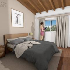 Casa FUNES: Dormitorios de estilo  por Prece Arquitectura