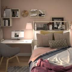 Нагатинская Набережная Спальня в эклектичном стиле от КS-Interiors Эклектичный