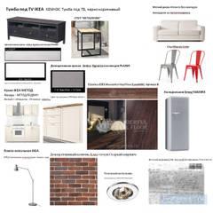 Комплектация гостиной-кухни: Стены в . Автор – Студия интерьера Дениса Серова