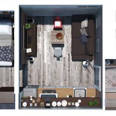 План квартиры-студии: Стены в . Автор – Студия интерьера Дениса Серова