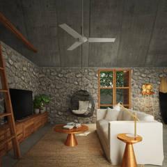 Casa Cham: Salas de estilo topical por La Desarrolladora