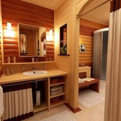 浴室 by Студия интерьера Дениса Серова