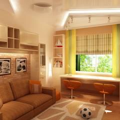 Детская комната в современном стиле: Детские комнаты в . Автор – Студия интерьера Дениса Серова