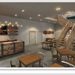 Artisan Cafe' - concept render.:  Bars & clubs by Premiere Design Studio