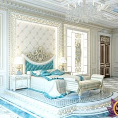 Palatial  bedroom design of Katrina Antonovich:  Bedroom by Luxury Antonovich Design, Classic