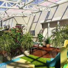 Дизайн-проект загородного дома 120 кв. м в современном стиле: Зимние сады в . Автор – Студия интерьера Дениса Серова