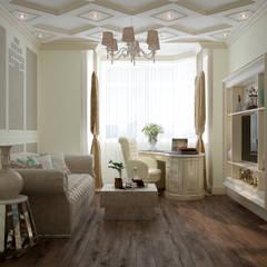 """Дизайн кабинета в классическом стиле в квартире в ЖК """"Ливанский дом"""", г.Краснодар: Рабочие кабинеты в . Автор – Студия интерьерного дизайна happy.design"""