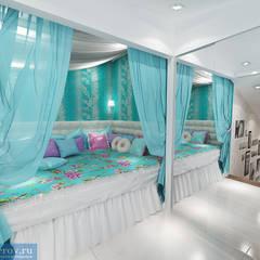 Спальня в классическом современном стиле: Спальни в . Автор – Студия интерьера Дениса Серова