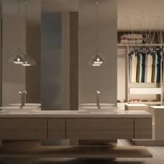 CASA DEL TREBOL: Baños de estilo  por santiago dussan architecture & Interior design, Moderno