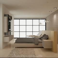 CASA DEL TREBOL: Habitaciones de estilo  por santiago dussan architecture & Interior design, Moderno