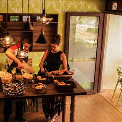 PANADERIA L`ATELIER DU PAIN: Locales gastronómicos de estilo  por santiago dussan architecture & Interior design