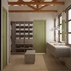 CASA VILLA DE LEYVA: Baños de estilo  por santiago dussan architecture & Interior design, Ecléctico