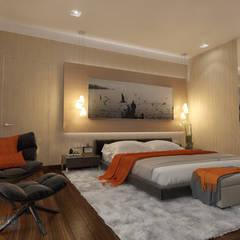 Дизайн-проект загородного дома 200 кв. м в городе Находка: Спальни в . Автор – Студия интерьера Дениса Серова