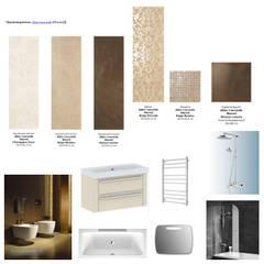 Комплектация ванной комнаты: Стены в . Автор – Студия интерьера Дениса Серова