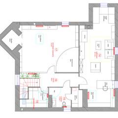 План третьего этажа загородного коттеджа: Стены в . Автор – Студия интерьера Дениса Серова