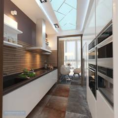 Кухня 8 кв. м в современном стиле: Кухни в . Автор – Студия интерьера Дениса Серова