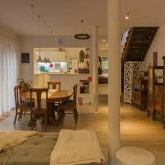 HP HOUSE: Comedores de estilo  por Moraga Höpfner Arquitectos,