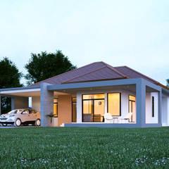 แบบบ้านชั้นเดียว:  บ้านและที่อยู่อาศัย โดย Takuapa125,