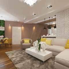 Дизайн-проект четырехкомнатной квартиры 140 кв. м в современном стиле : Спальни в . Автор – Студия интерьера Дениса Серова