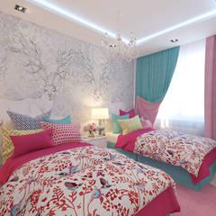 Детская комната 15 кв. м в современном стиле: Детские комнаты в . Автор – Студия интерьера Дениса Серова