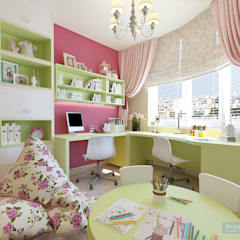 Дизайн-проект четырехкомнатной квартиры 140 кв. м в современном стиле : Детские комнаты в . Автор – Студия интерьера Дениса Серова
