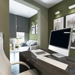 Рабочий кабинет 11 кв. м в современном стиле: Рабочие кабинеты в . Автор – Студия интерьера Дениса Серова