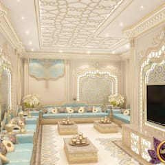 The charm of the oriental style interiors Katrina Antonovich :  Living room by Luxury Antonovich Design