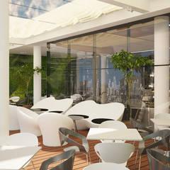 Terraza : Gastronomía de estilo  por Estudio Bono-Sanmartino